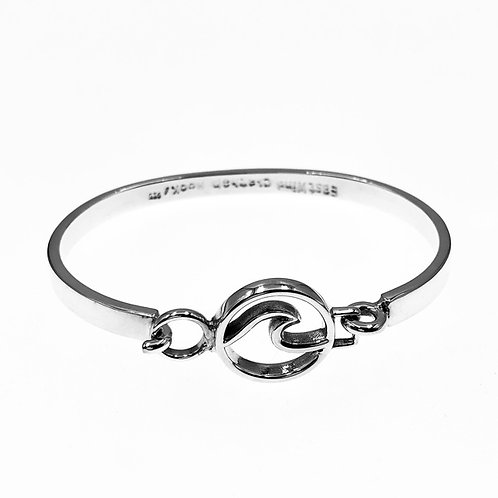 """Cape Cod"" Wave Bangle Bracelet - Sterling Silver"