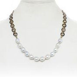 "18"" Gold & Silver Chain With Diamond Clasp - Margo Morrison"