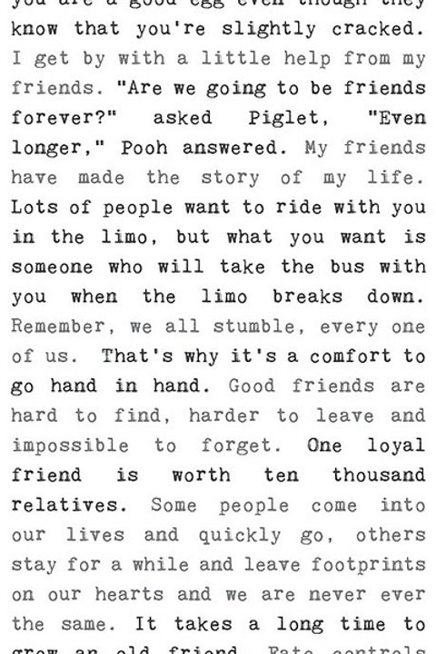 """Friendship"" - Typewriter Sign"