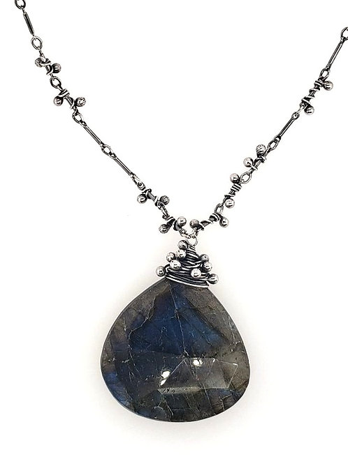 """Swarm"" Necklace - Sterling Silver & Labradorite"
