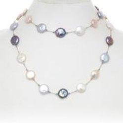Multi-color Pearl Necklace - Margo Morrison
