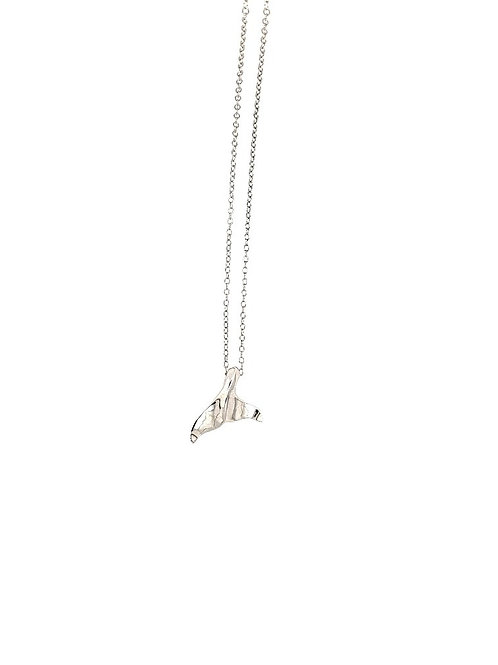 Whale Tail Pendant - Sterling Silver