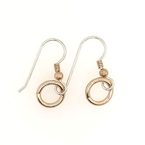 Sterling Silver & Gold Fill Ring Earrings