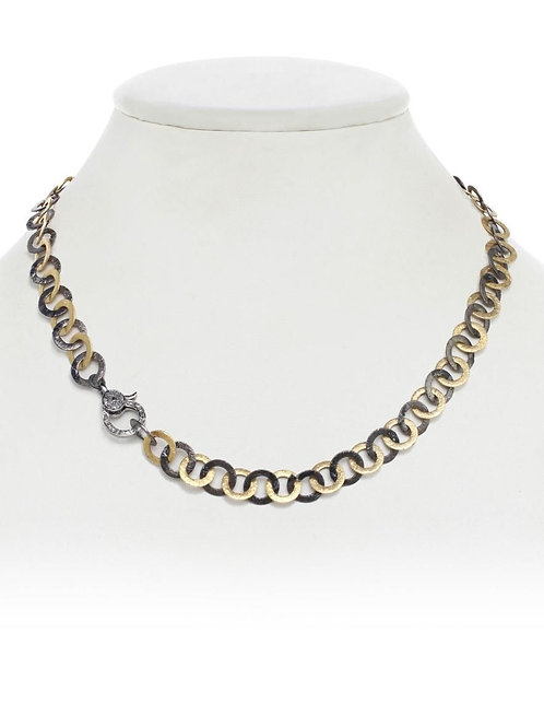 18kt Gold Vermeil & Sterling Chain With Diamond Clasp - Margo Morrison