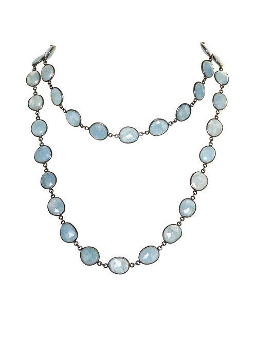 Margo Morrison - Aquamarine & Sterling Silver Necklace