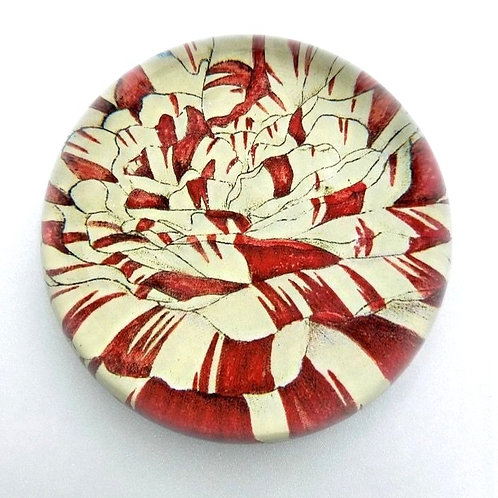 John Derian - Red Flower Dome Paperweight