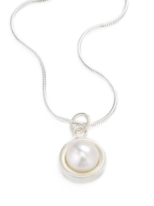 Philippa Roberts - Sterling Silver & Pearl Circle Necklace