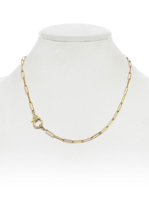 14kt GF Necklace With Pave Diamond Clasp - Margo Morrison