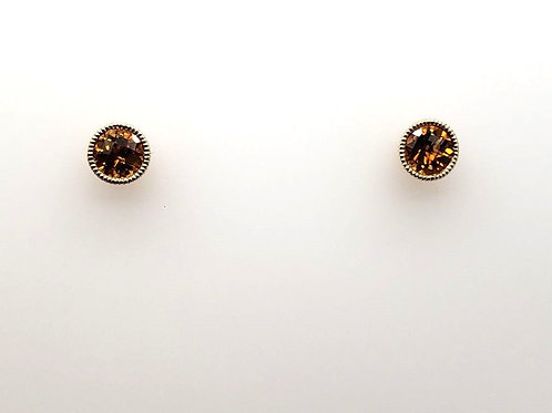 Citrine & 14kt Gold Post Earrings