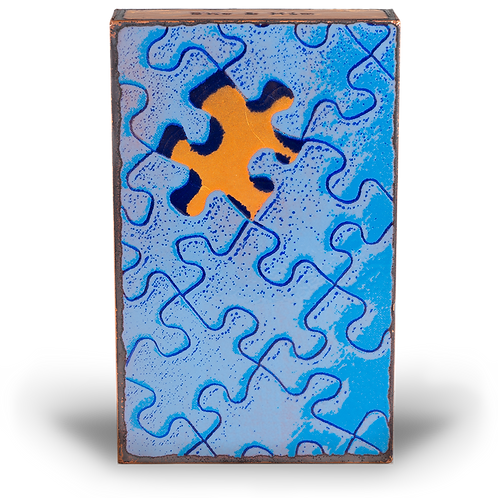 """Piece of the Puzzle - Spirit Tile by Houston Llew"