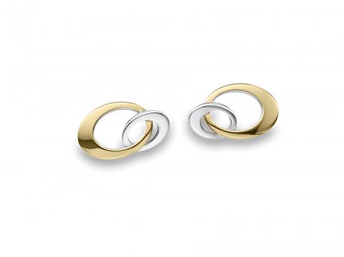 Entwined (Mini) Earrings - Sterling Silver & 14kt Gold - Ed Levin Studio
