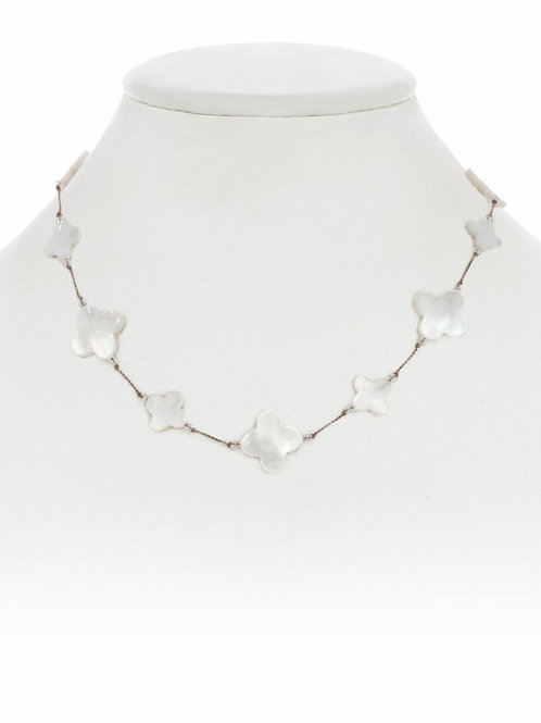 Mother of Pearl Clover Shape Necklace - Margo Morrison