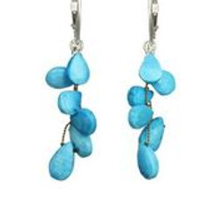 Turquoise & Sterling Silver Earrings - Margo Morrison