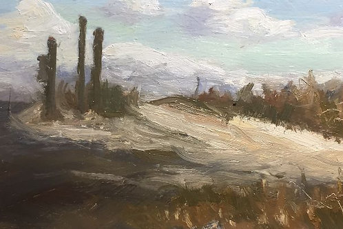 """Philip Bergson - """"A Hint of Veridian Sky"""" - Painting"""