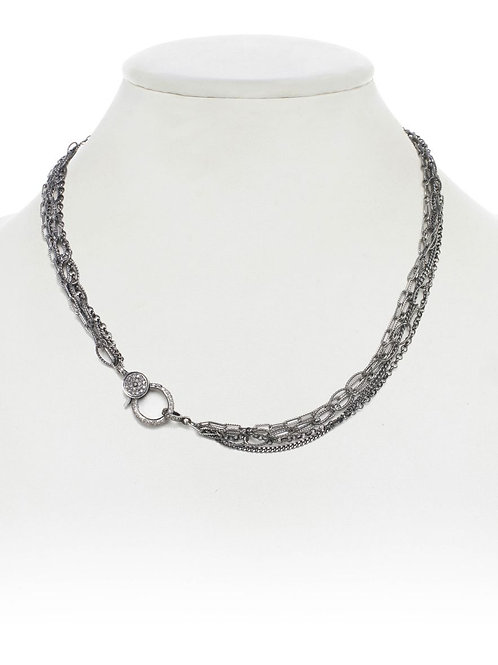 Sterling Silver Chain Combination & Diamond Clasp - Margo Morrison
