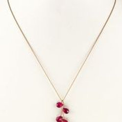 Margo Morrison - Faceted Ruby Cluster Necklace