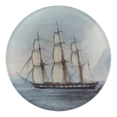 "John Derian - Tall Ship 4"" Round"