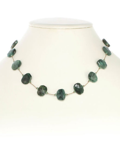 Raw Emerald Necklace - Margo Morrison