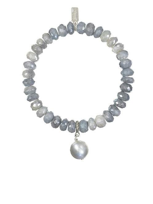 Silverite & Grey Baroque Pearl Bracelet - Margo Morrison