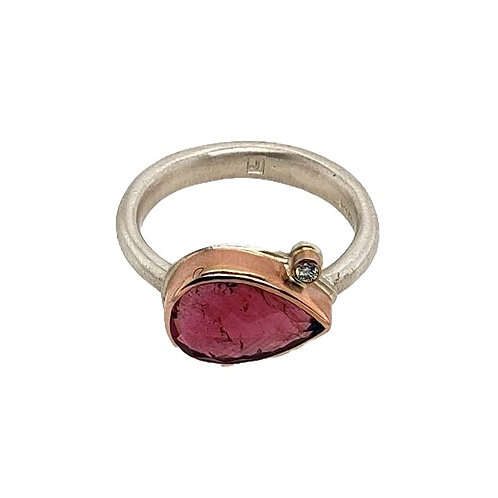Jamie Joseph - Pink Tourmaline & Diamond Ring
