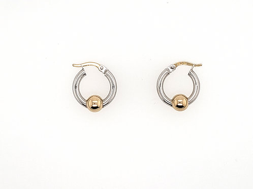 """Cape Cod"" Hoops (Mini) - Sterling & 14kt"