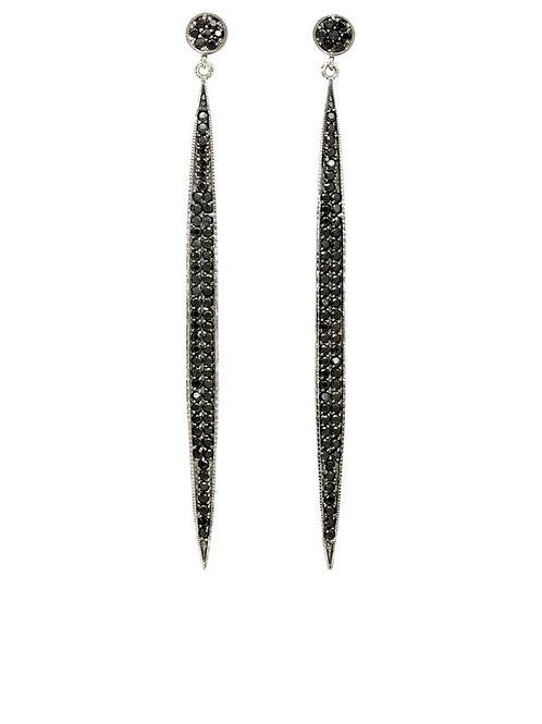 Black Spinel Earrings - Margo Morrison