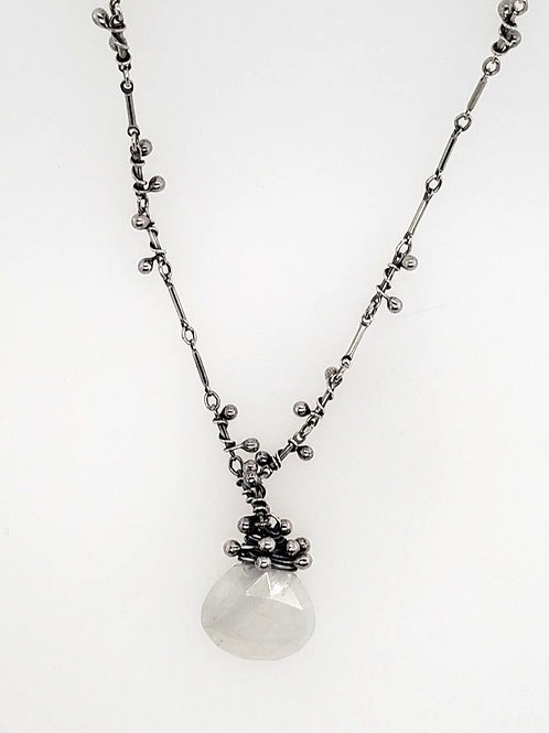 """Swarm"" Necklace - Sterling Silver & Moonstone"