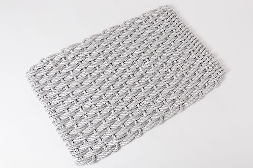 Handwoven Rope Doormat - Fog Gray