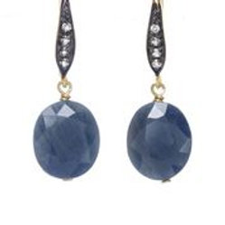 Blue & White Sapphire Earrings - Margo Morrison