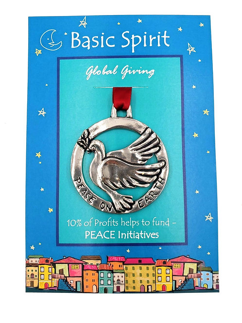 Dove of Peace Ornament - Pewter