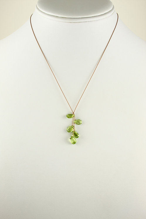 Margo Morrison - Peridot Cluster Necklace