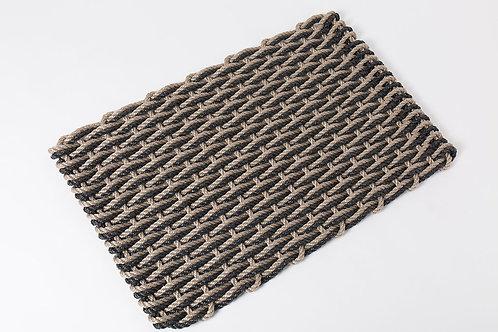 Handwoven Rope Doormat - Sand & Charcoal