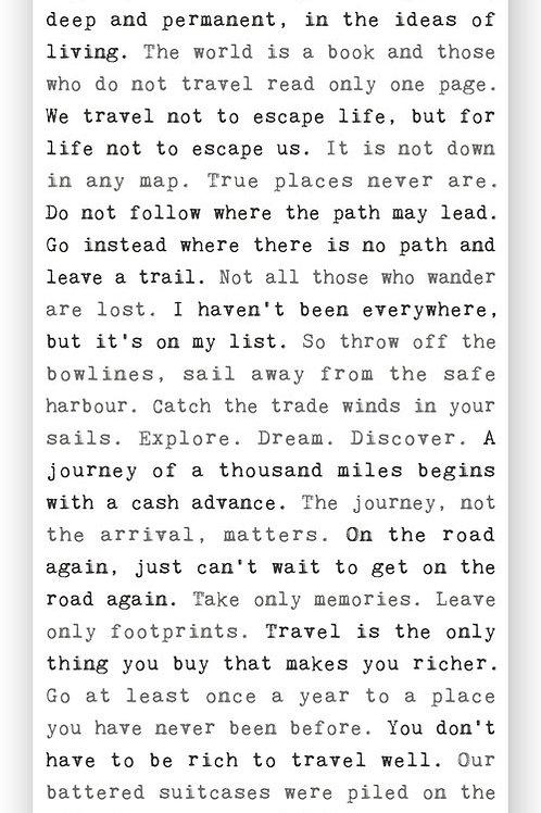"""""""Travel"""" - Typewriter Sign"""