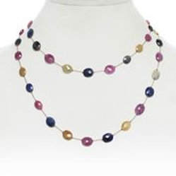 Multi-color Sapphire Necklace - Margo Morrison