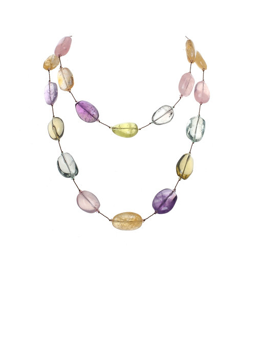 Margo Morrison - Citrine, Amethyst & Multi-color Quartz Necklace