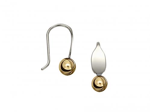 """""""La Petite"""" Earring - Sterling Silver & 14kt Gold Ball"""