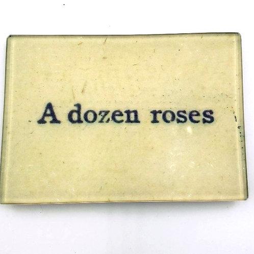 """John Derian - """"A Dozen Roses"""" Plate - 3 1/2"""" x 5"""""""