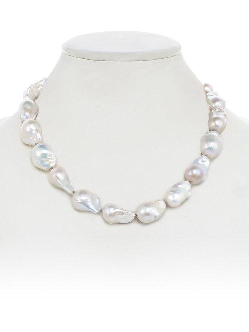 Margo Morrison - Organic White Baroque Pearl Necklace