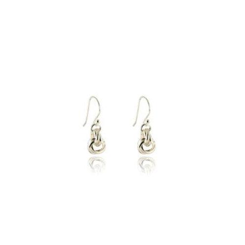Rolling Rings Drop Earrings - Sterling Silver