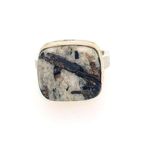 Astrophyllite in Quartz Ring - Jamie Joseph