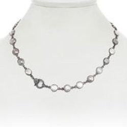 Multi-color Moonstone Necklace With Diamond Clasp - Margo Morrison