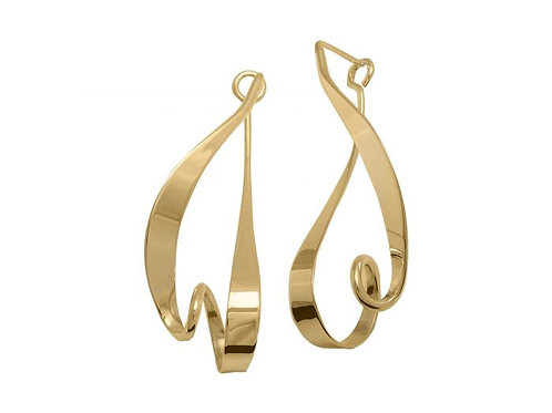 """Kinetic"" Earrings - 14kt Gold - Ed Levin Studio"