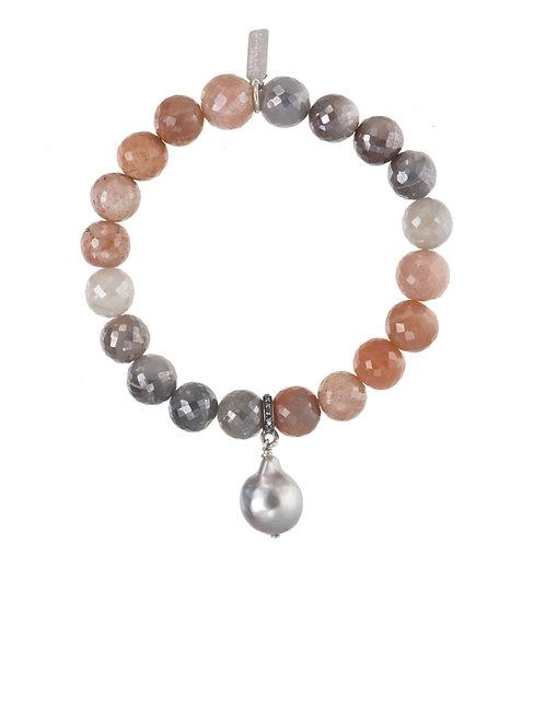 Margo Morrison - Moonstone & Baroque Pearl Bracelet