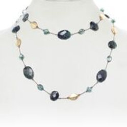 Green Moonstone & Emerald Necklace