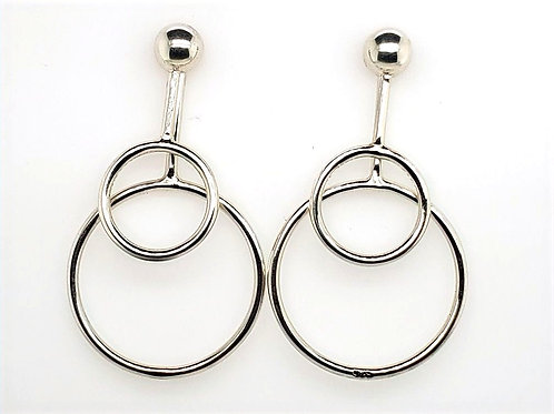 Double Orbit Earrings - Sterling Silver