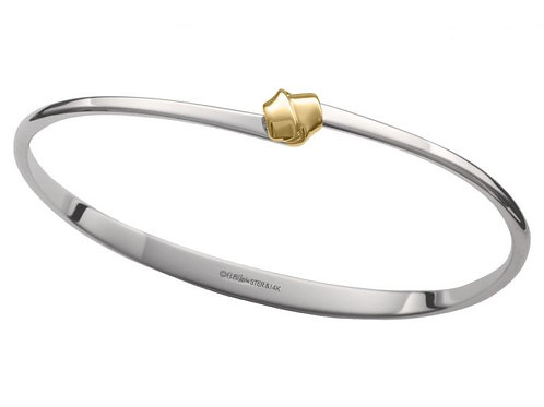 "Petite ""Love Knot"" Bracelet - Sterling Silver & 14kt Gold"
