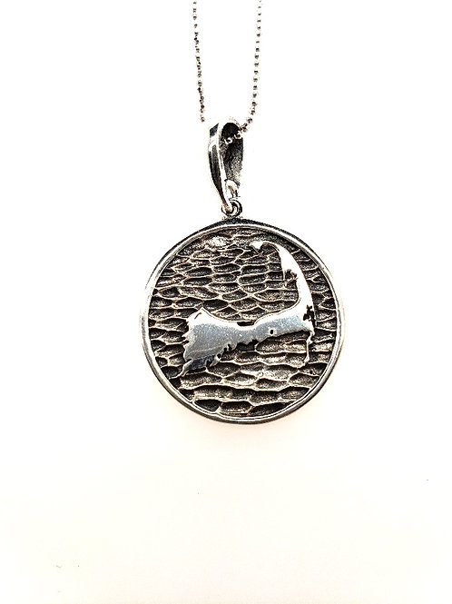 "Cape Cod ""Wax Seal"" Pendant - Sterling"