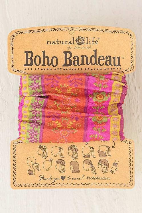 """""""Boho"""" Bandeau - Red Floral Stripes"""