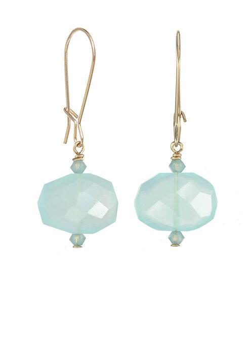 Margo Morrison - Peru Chalcedony & 14kt Gold Fill Earrings