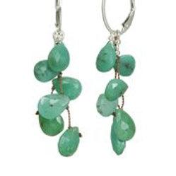 Chrysoprase & Sterling Silver Earrings - Margo Morrison